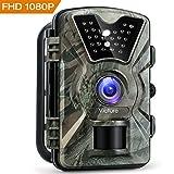 Victure Wildkamera Fotofalle 1080P Full HD 12MP Jagdkamera Weitwinkel Vision Infrarote 20m Nachtsicht Wasserdichte IP66 Überwachungskamera mit 2.4' LCD Display