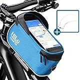 HiLo sports Rahmentasche Fahrrad für Smartphone am Oberrohr | Rad Oberrohrtasche wasserdicht | Handy Fahrradtasche Rahmen | Oberrohr Fahrradtasche Mountainbike
