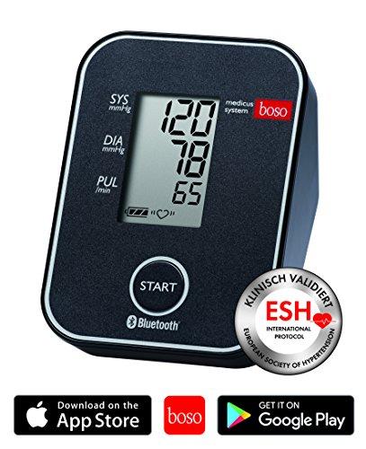 boso medicus system / Kabelloses Blutdruckmessgerät für die Messung am Oberarm mit Arrhythmie-Erkennung / Inkl. Universal-Zugbügelklettenmanschette (22-42cm)
