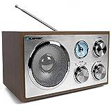 Blaupunkt RXN 180 Vers. 2018 | Büroradio mit Bluetooth und Aux In | UKW/FM Küchenradio | Kofferradio mit Holzgehäuse | Nostalgieradio mit Teleskopantenne | Retro Badezimmer Radio mit Analog-Tuner