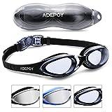 AdePoy Schwimmbrillen mit UV-Schutz und Antibeschlag-Schutz Bequem Schwimmbrillen für Erwachsene