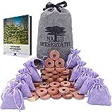 52x Natürlicher Mottenschutz für Kleiderschrank, Mottenschutz aus Zedernholz und Provence Lavendelsäckchen, Motten Duftsäckchen Kleiderschrank, 100% Naturprodukt-Chemiefreie Mottenfalle Kleidermotten