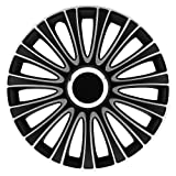 Petex LeMans Pro. 2-fach lackiert. Material: ABS. Farbe: Schwarz. 16' Zoll. (4 x Universal Radzierblenden/Radkappen)