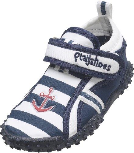 Playshoes Aquaschuhe, Badeschuhe Maritim mit höchstem UV-Schutz nach Standard 801 174781, Jungen Aqua Schuhe, Blau (original 900), EU 22/23