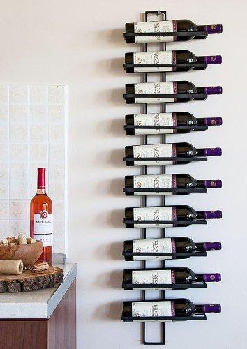 DanDiBo Weinregal Wandregal Dies 116cm aus Metall für 10 Flaschen Flaschenständer Flaschenhalter 11699