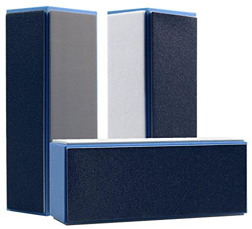 3er Set Hochglanz Polierblock Blau