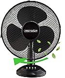 Tischventilator Ø40 cm 45 Watt   Ventilator   Rotation zuschaltbar   oszillierend   leiser Betrieb   Windmaschine   Luftkühler   geeignet für Büro, Schlafzimmer, Wohnzimmer