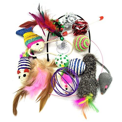 Katzenspielzeug, PietyPet Katze Toys Variety Pack, Spielzeug für Katzen Kitty, 13 Stück