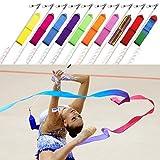10 x Gymnastik Bänder Rhythmische Tanz Streamer Stab Baton Twirling Kunst Fitnessstudio Band von Trimming Shop
