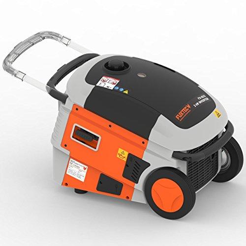 Fuxtec Inverter FX-IG13 Wechselrichter Benzin Stromerzeuger, 4,3 KW Leistung, 6h Laufleistung, 10 Liter Tankinhalt,4-Takt Motor - 2X 230V Anschluss geeignet für Ladegeräte,Laptops,Smartphones,Tablets