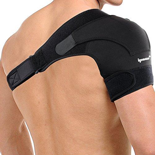 IPOW Verstellbar Schulter Unterstützung aus Neopren Schulter Bandage Gurt Schulterschutz für Sportverletzungen Schulter Schmerzlinderung Unisex passt links oder rechts Schulter Size M