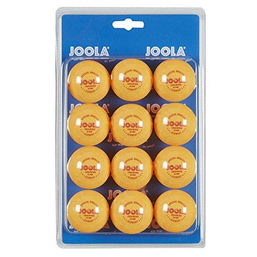 JOOLA Tischtennis-Bälle Training 40mm, Orange 12er Blister Pack
