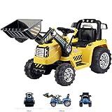 Toyas Bagger Bulldozer Kinder Elektro Auto Fahrzeug Traktor Kinderfahrzeug Elektrobagger Gelb