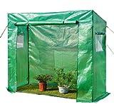 Gewächshaus Treibhaus Tomatenhaus Frühbeet 200x77x169 cm grün