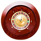 Brybelly Casino Grade Deluxe Roulette-Rad aus Holz, Red/Brown Mahogany, 19.5'