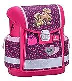 Belmil Ergonomischer Schulranzen Mädchen Grundschule 1, 2, 3 Klasse Pferde Pony Pink Rosa (403-13 Anna Pet Pony)