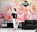 Fototapete Bild-Tapete ROSEN-MIX 300x250cm Wandbild Bordüre Wandtatoo Wanddeko wall mural wallpaper