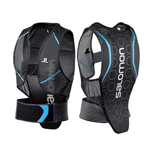 Salomon Herren Flexcell Men Ski-Rückenprotektor, Verstellbar, MotionFit-Technologie, Atmungsaktives Mesh-Material, schwarz/blau, Größe M, L39139100