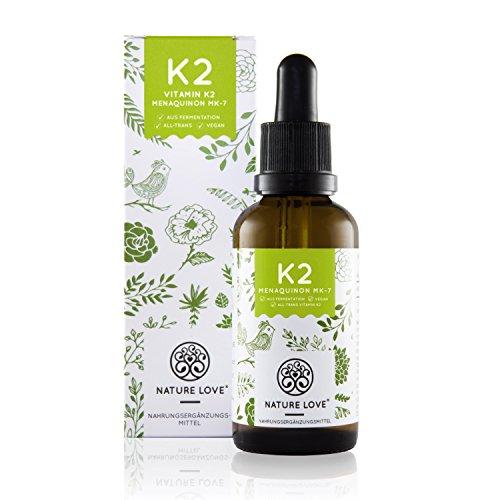 Vitamin K2 MK7 Tropfen - 50ml. Flüssig und hochdosiert mit 200 µg (mcg). Zum Einführungspreis. Premiumqualität mit Gnosis VitaMK7 Rohstoff. Pflanzliches Menaquinon 7 (MK 7) mit 99% All Trans. Hochdosiert, vegan und hergestellt in Deutschland