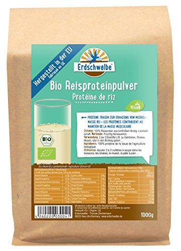 NEU Erdschwalbe EU Bio Reisprotein - Hergestellt in der EU - Veganes Eiweißpulver - 1 Kg