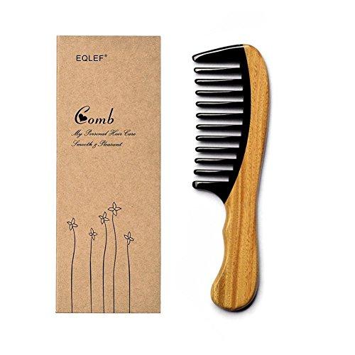 Sandelholz Horn Kamm Handgefertigter hochwertiger Natur Sandelholz Horn Kamm (breite Zähne)