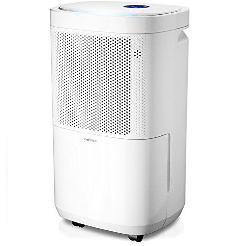 Pro Breeze 12L Luftentfeuchter (12L in 24h, Raumgröße ca. 60m³) 4 Betriebsarten, Digitalanzeige, kontinuierlichem Ablauf, Wäschetrocknung und Zeituhren