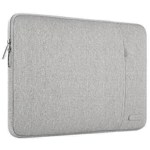 MOSISO Laptophülle Kompatibel 13-13,3 Zoll MacBook Air, MacBook Pro, Notebook Computer, Polyester Wasserabweisend Vertikale Stil Sleeve Hülle Schutzhülle Laptoptasche Notebooktasche, Grau