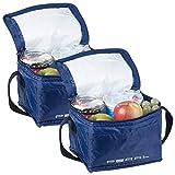 PEARL Kuehltasche: 2er-Set isolierte Mini-Kühltaschen mit Tragegurt, je 2,5 Liter (Reise-Kühltasche)
