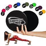 Slide Pads Von HomeGym 4 U - Gleitscheiben, Sliders Fitness Geeignet für Teppich- Oder Holzböden - Effektives Core Training Für Einen Flachen Bauch Und Straffe Bauchmuskeln, 2er Set
