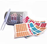 Ziatec Cross Tapes Box mit 102 | 204 | 306 Pflaster in praktischer Schutzdose + Pinzette, Gittertapes, Akupunktur-Pflaster, Größe:Versorgungsbox, Farbe:Mix - 102 Stück