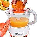 Monzana Entsafter Saftpresse Zitruspresse elektrische Presse Fruchtpresse Zitronenpresse 40W 700ml spülmaschinengeeignet für Orangen Zitronen Limetten Mandarinen Grapefruits