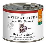 defu Bio Nassfutter Rind für Katzen Gluten und Getreidfrei 200 g, 12er Pack (12 x 200 g)
