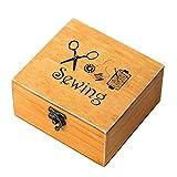 ROSENICE Holz Nähkästchen Nähbox vintage Nähzubehör für DIY Nähen Handwerk