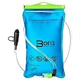 Premium Trinkblase 2L mit Beissventil - BPA-frei, antibakteriell und auslaufsicher für jeden Trinkrucksack geeignet von Bora Sportswear - hochwertiges Trinksystem 2 Liter für Sport & Freizeit