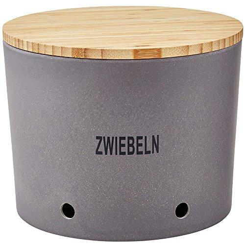 Magu 136 664 Zwiebeltopf 'Natur-Design' in Bambusfasern, Getreidestärke, Holzfaser, Schiefer, 28 x 28 x 8 cm