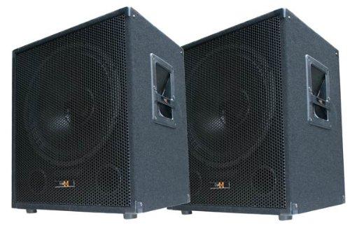 2x 600W DJ PA Subwoofer Boxen Paar - 15' Passiv Bass Lautsprecher - E-Lektron SUB-P38
