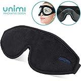 Unimi Augenmaske zum Schlafen, 3D Konturierte Schlafmaske und Augenbinde für Frauen, Männer, Superweich und bequem, 100% Licht blockierend. 3D-Augenschutz für Reisen, Schichtarbeit, Nickerchen