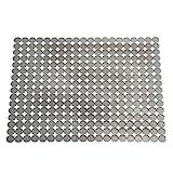 InterDesign Orbz Spülbeckenschutz, große und zuschneidbare Abtropfmatte aus Kunststoff für Geschirr, graphitfarben