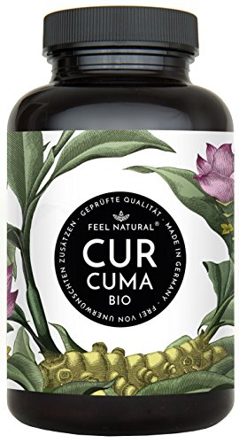 Bio Curcuma (Kurkuma) Kapseln - 180 Stück. Hochdosiert mit 4320 mg Bio Curcuma und Bio Schwarzem Pfeffer je Tagesdosis. Einführungspreis. Laborgeprüft, ohne Zusätze wie Magnesiumstearat. Hergestellt in Deutschland und vegan