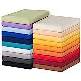 MOON-Luxury Spannbettlaken Spannbetttuch Jersey Stretch 230g/m² für Wasserbetten, Boxspringbetten und herkömmliche Matratzen (anthrazit, 180x200 - 200x220)