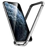 ESR Bumper Hülle kompatibel mit iPhone 11 Pro(2019) - Metallrahmen Schutz mit weichem inneren Bumper [Keine Signalstörungen] [Erhöhter Kantenschutz] für iPhone 11 Pro(2019) - Silber