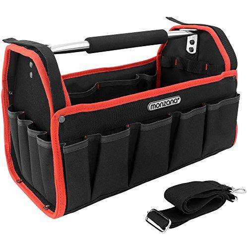 Werkzeugtasche - L - | Modellauswahl | inkl. Schultergurt | stabile Aluminium-Tragestange - Montagetasche Werkzeugbox Werkzeugkasten
