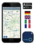 Musegear Schlüsselfinder mit Bluetooth App I Keyfinder laut für Handy in blau I GPS Ortung / Kopplung I Version 2 I Schlüssel finden