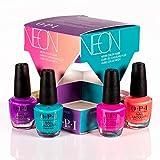 OPI OPI Nail Lacquer Nagellack, glänzender und langanhaltender Farblack, NEONs by OPI Collection, Mini 4er Set: Orange You a Rock Star?