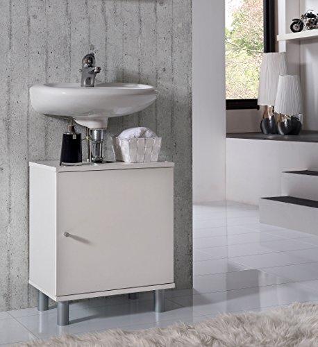 VCM Bad Unterschrank Waschtisch Waschbecken Badschrank Regal 'Wento' 55x45x32 Badezimmer Schrank Weiß