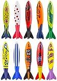 Kompanion 10-Stück Torpedo Bandits Pool/Schwimmbad Tauchen-Spielzeug Set in Einzigartigem Design, Schwimmhilfe für Kinder und Erwachsene, Tolle Sommer Pool Spielzeug und Tauchen Spiel