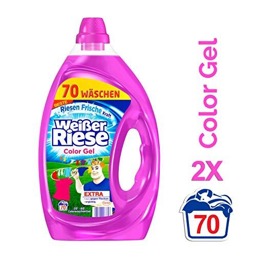 Weißer Riese Color Gel, Colorwaschmittel, 2er Pack (2 x 70 Waschladungen)