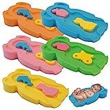 Baby Badeschwamm Sitzschwamm Badeunterlage Für Babys ab der Geburt Gr.MIDI (Blau)