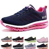 frysen Herren Damen Sportschuhe Laufschuhe mit Luftpolster Turnschuhe Profilsohle Sneakers Leichte Schuhe Blue Orange 39