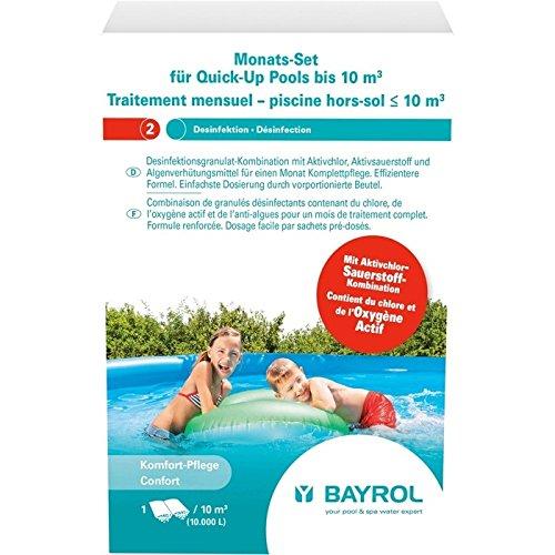 Bayrol Monats Set Quick Up Pool für Becken bis 10 m³